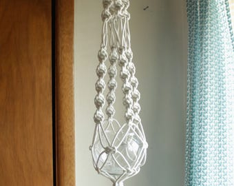 Macrame Plant Hanger With Glass Bowl