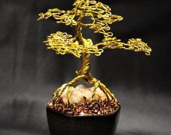 Tree of Life, Wire Bonsai Tree