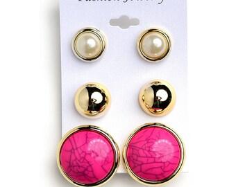 Gem & Pearl Earrings
