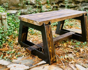 Blaze Bench Kit DIY Metal and Wood