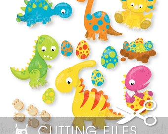 dinosaur cutting files, svg, dxf, pdf, eps included - Panda party cutting files for cricut and cameo - Cutting Files SVG - CT969