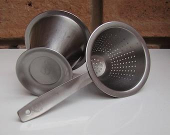 SWEDISH ROSTFRITT STAL 18/8 Stainless Steel Tea Strainer c1960s