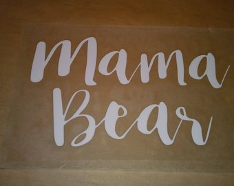 DIY iron on Bear Family decals,mama bear,papa bear