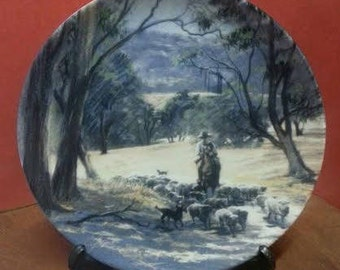 Collectible Westminster plate 'The Sheep Drover' Colina Grant