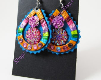 Quilled Charmed Earrings