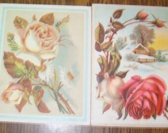 2 Large Victorian Scraps (Roses)