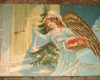 Pretty Vintage cristmas Postcard (Angel)