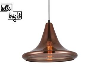 Design Copper Glass Pendant Lighting
