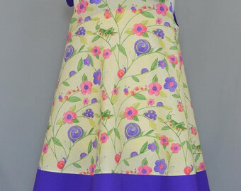 Girl's sundress,A-line dress,Swing dress,Dress with shoulder ties