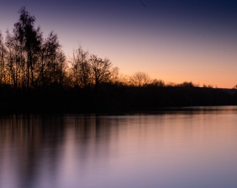 Sunrise Lake Photo Print (8x10)
