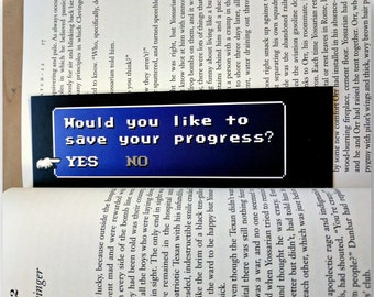 "Final Fantasy Bookmark ""Would You Like To Save Your Progress?"" - High Quality Bookmark - Double Sided"
