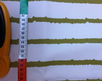 Cotton thick off-white/green coupon 140X150cm