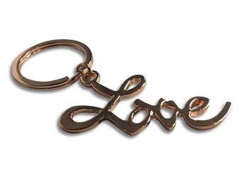 Love Rose Gold Keychain Sex And The City Movie Carrie Bradshaw Gives Louise Key Chain Gift 2 Keyring Ring SATC TV Series Show High Quality