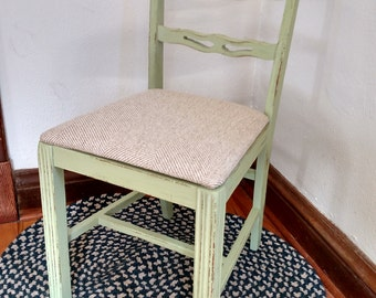 SOLD! Upcycled Cottage Style Dining Chair