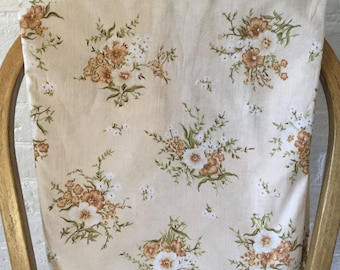 Nile single flat floral sheet Vintage floral fabric Vintage sheet