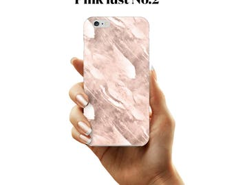 Pink and white marble initial phone case for iPhone and Samsung Galaxy devices.