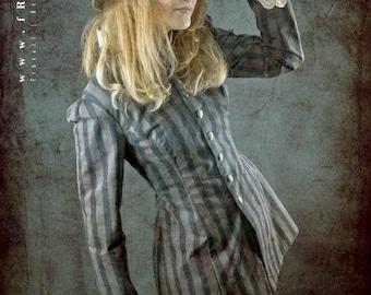 Steampunk stripe jacket