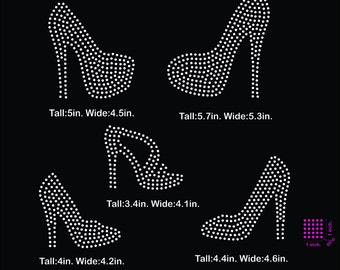 High heels, heels rhinestone template digital download, svg, eps, studio3, png, dxf
