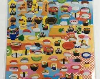 Fancy Sticker - Sushi Design - Sticker Pack - Planner Sticker - Decorative Sticker - Japanese Sticker - Japanese Sticker - Kawaii Sticker