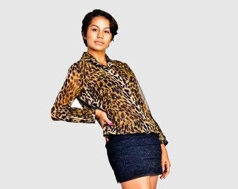 Leopard Print Blouse.