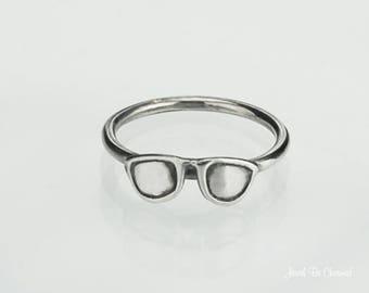 Sterling Silver Eyeglasses Sunglasses Glasses Ring Solid .925 Custom