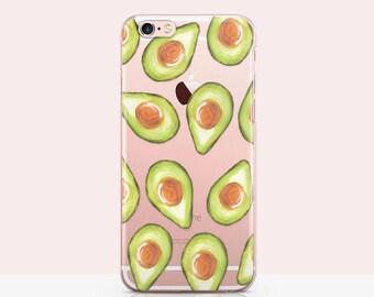 iPhone 7 plus Case Avocado, iPhone 6s Case Avocados, iPhone se Case Fruit, Phone case Fruit Print - Pale Pink Glam iPhone Case 4
