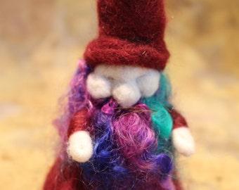 Waldorf inspired needle felt wizard/gnome - paul