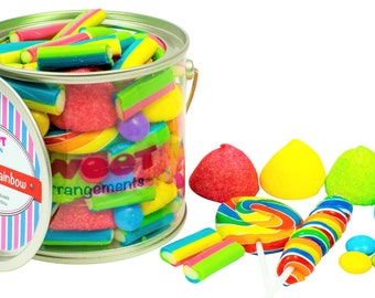 Rainbow sweets, childrens sweet gift