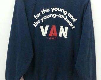 Vintage VAN JAC Sweatshirt//Japanese Brand//Size L//Raglan