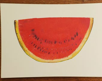 red watermelon print A5