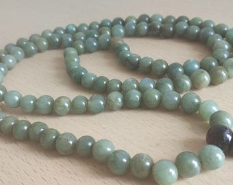 SEA: 108 stone mala for meditation (9.4 mm)