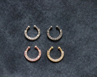 Rings septum for the nose, fake nose piercing