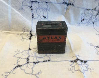 Atlas Coin Bank, Promotional Item from 1950s, Automotive, Battery Decoration, Vintage