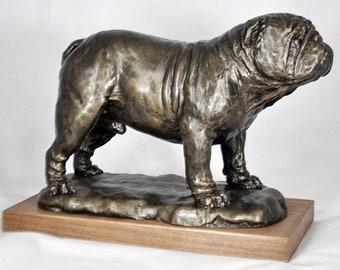 ENGLISH BULLDOG- unique dog sculpture SALE!