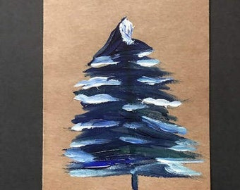 Blue Wintery Tree
