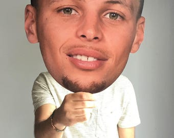 Stephen Curry Big Face Cut Out - Stephen Curry Fat Head - Stephen Curry Big Head - Stephen Curry Head on a Stick