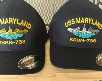 U.S. Navy Command, Flex Fit Ball Cap, Boat Hat, Enlisted, Officer, Military Submarine Hat, Dolphins