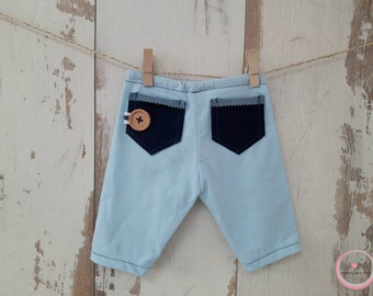 Pants JESSE ,stretch,boy,jongen,broekje,blue,jeans pockets, newborn foto