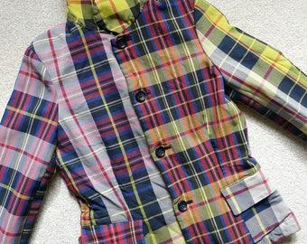 Vintage Comme des Garçons tartan blazer