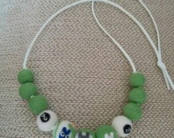 Felt Beads Felt Totoro My Neighbor Totoro Needle Felted Beads Needle Felted Totoro Wool Beads Wool Totoro Hand Made Beads Hand Made Totoro