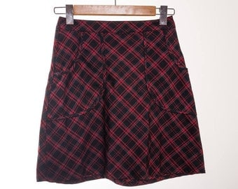 Tartan Mod Rock Minne Skirt / thisisengland / minnie / grunge / hipster / pattern / cute