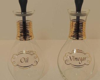 Vintage Pyrex Cruet Oil and Vinegar Set