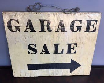 """Vintage """"Garage Sale"""" Sign"""