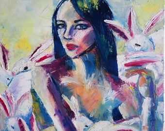 "Collection peice ""The Bunnies in the box"""