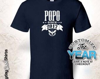 Popo Since (Any Year), Popo Gift, Popo Birthday, Popo tshirt, Popo Gift Idea,