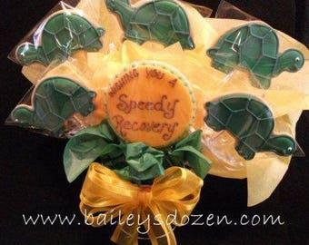 Get Well Cookie Bouquet   Turtles