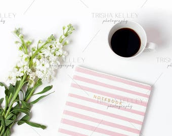 SET OF TWO: Pink Notebook with Coffee