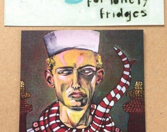Magnets For Lonely Fridges, Sailor,  Magnets, Aimants,art, illustration,Madeleine Marin Craig