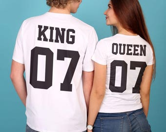 King queen tshirt | Etsy