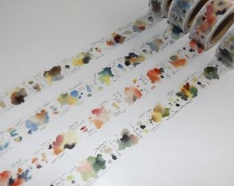 1m Liang Feng Watercolour Washi tape Maskingtape